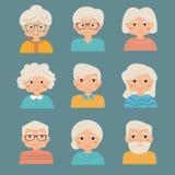 Ensemble de personnes âgées Image libre de droits