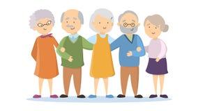 Ensemble de personnes âgées illustration libre de droits