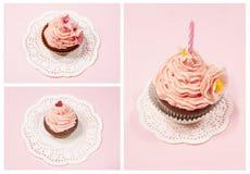 Ensemble de petit gâteau Images stock