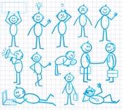 Ensemble de petit homme de dessin animé drôle illustration stock