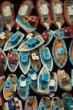 Ensemble de petits bateaux modèles colorés Photographie stock libre de droits