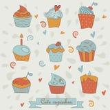 Ensemble de petits gâteaux Photo stock