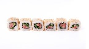 Ensemble de petits pains de thon d'isolement sur le blanc, plan rapproché Photographie stock