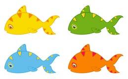 Ensemble de petits poissons tropicaux colorés Images stock