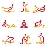 Ensemble de peuples faisant le massage illustration de vecteur