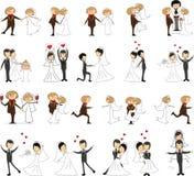 Ensemble de photos de mariage illustration de vecteur