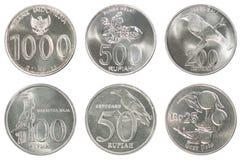 Ensemble de pièce de monnaie de l'Indonésie Images stock