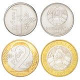 Ensemble de pièces de monnaie biélorusses Photographie stock