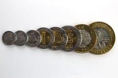 Pièces de monnaie mexicaines. Photos libres de droits