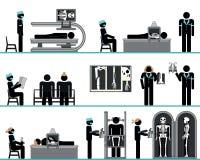 Ensemble de pictogramme de service de radiologie illustration stock