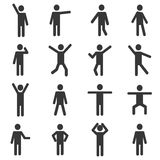 Ensemble de pictogramme humain actif Photographie stock