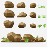 Ensemble de pierre de roche Photos stock