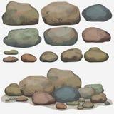 Ensemble de pierre de roche illustration libre de droits