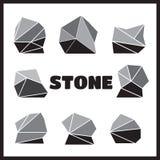 Ensemble de pierres, éléments de roche différents illustration de vecteur