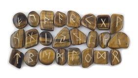 Ensemble de pierres de Rune images libres de droits