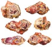 ensemble de pierres minérales de bauxite (minerai en aluminium) Images stock