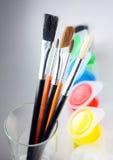 Ensemble de pinceaux Photographie stock