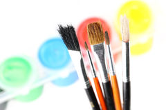 Ensemble de pinceaux Photo stock