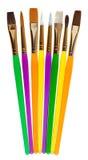 Ensemble de pinceaux colorés Photos libres de droits