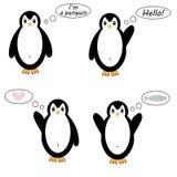 Ensemble de pingouins de vecteur Images libres de droits
