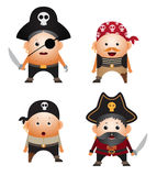 Ensemble de pirates de dessin animé illustration de vecteur