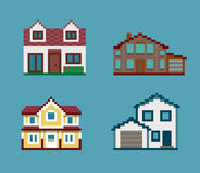Ensemble de pixel de Chambres Photos libres de droits