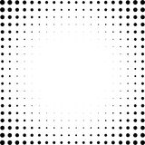 Ensemble de places tramées d'isolement sur le fond blanc Collection de modèles de point tramés d'effet Illustration noire de rect Photographie stock libre de droits