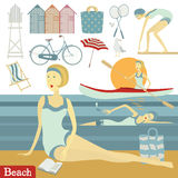 Ensemble de plage d'été Photographie stock libre de droits