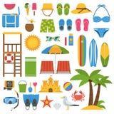 Ensemble de plage d'été Photo libre de droits