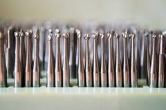 Ensemble de plan rapproché dentaire d'exercices, foyer sélectif Photos stock