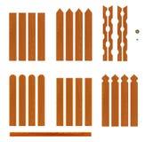 Ensemble de planches en bois de barrière de différentes formes Photos libres de droits