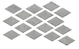 Ensemble de plats en pierre isométriques Photo libre de droits