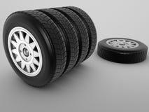 Ensemble de pneus Photo libre de droits
