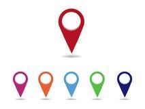 Ensemble de pointeurs ronds de carte Image libre de droits