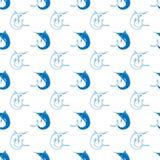 Ensemble de poissons Marlin Seamless Pattern Images stock