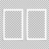 Ensemble de polaroïd de cadre de photo Dirigez le calibre pour votre photo ou image à la mode illustration stock