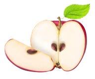 Ensemble de pommes rouges d'isolement sur le fond blanc Photo stock