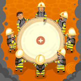 Ensemble de pompier au travail Image libre de droits