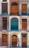 Ensemble de portes italiennes image libre de droits