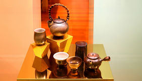 Ensemble de pot de thé de chinois traditionnel Photo stock