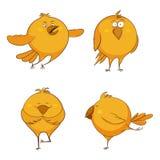Ensemble de poulets mignons de bande dessinée, pour la copie, jeu, Web illustration libre de droits