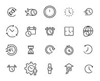 Ensemble de prime de ligne de temps icônes Image stock