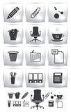 Ensemble de PrintVector de graphisme de bureau. fauteuil de bouton Images stock