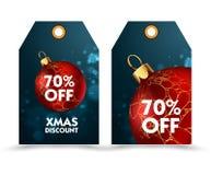 Ensemble de prix à payer avec la boule ou les labels de décoration special, remise de vacances Images stock