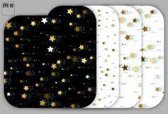 Ensemble de problème Art Background Étoiles d'or avec le problème Effe de Trandy illustration stock