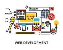 Ensemble de processus de développement de Web d'abstact Images libres de droits