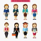 Ensemble de professions femelles météorologiste illustration de vecteur