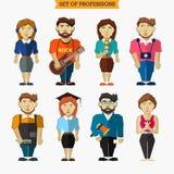 Ensemble de professions Météorologiste, musicien illustration libre de droits