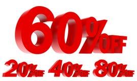 Ensemble de promotion des ventes outre du texte 3d Photographie stock