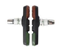 Ensemble de protections de frein de bicyclette de matériau composite (pour le V-frein) Image stock